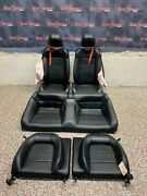 2016 Ford Mustang Gt Oem Black Leather Seats Coupe -blown Bags-