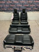 2010 Camaro Ss Oem Black Leather Front Rear Seats Coupe -one Blown Bag-