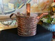 English Decorative Antique Victorian Copper Watering Hot Water Can Circa 1890