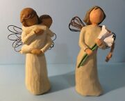 2 Willow Tree Items Angels Embrace And Angel Of Beauty Demdaco By Susan Lordi