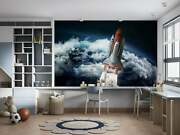 Space Shuttle In The Space Near Earth Wallpaper - Large Wall Mural -