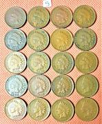 1883-1907 Indian Head Cents, Penny, 20 High Grade Coins 5