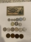 Old Canada Canadian Coins Silver Quarters 1900 25 Cent Note One Cent And More