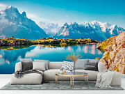 Colorful Panorama Of The Lac Blanc Lake Wallpaper - Large Wall Mural,