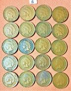 20 High Grade Indian Head Cents From 1906 And 1907, Penny, Nice Coins 6