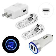 Dual Usb Car Chargerandwall Adapter 5ft Usb C Cable For Samsung Galaxy S10 S20 A51