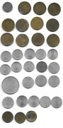 1947- Misc Austrian Schillings And Groshen Coins Various Dates 34 Coins