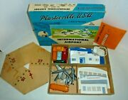 Plasticville 5600 Rare Airport With Hanger Kit With Master Box O Gauge Trains