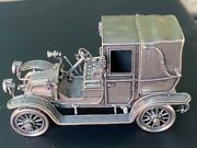 Franklin Mint 925 Sterling Silver 1907 Thomas Flyer Miniature Car 143 Scale
