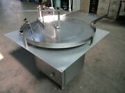 36 Inch Dia Stainless Steel Sanitary Accumulation Table Mfg By Perry Ind.