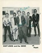 Huey Lewis And The News Autograph, Signed Photo