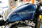 For Harley Davidson Andndash 1977 Xl And Fx Blue Gas Tank Set With Amf
