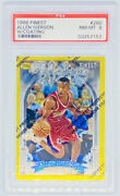 Allen Iverson 1996-97 Topps Finest Heirs Gold Rookie W/coating Rc Low Pop Psa 8