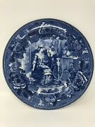 Antique 9 3/8 Plate Priscilla And John Aldenwedgwood A,s, Burbank Of Plymouth G