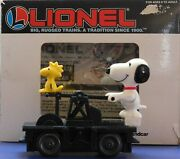 Vintage Peanuts Snoopy And Woodstock Train Hand Car Lionel Htf Excellent Condition
