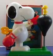 Vintage Peanuts Snoopy The Champ Aviva Wind Up Action Toy Mib Works Rare