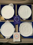 1976 Set Of 4 Plates Bicentennial Project Of General Federation Of Womenand039s Clubs