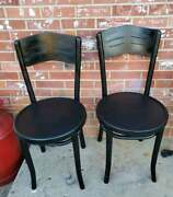 2 Vintage Bentwood Thonet Chairs Dining Bistro Cafe