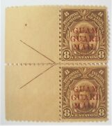 Mint 1930 Guam Guard Mail M10 Pair Large Selvage With Control Marks Mh Og