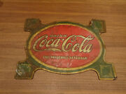 Rare 1920sand039 Coca Cola Turtle Sign One Of Only A Few Known To Exist Pre Enamel.