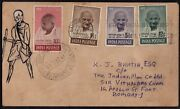 Gandhi Free India Stands For World Peace And 55th Congress Jaipur Cancelled Cover