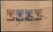 India Multiple Gandhi Stamps Air Mail, Cover To Penang Malaysia. As Per Scan.