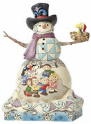 Jim Shore Snoopy Snow Day Snowman Woodstock Peanuts Gang Lucy Linus 4057670 New