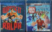 Wreck-it Ralph 1 And 2 Blu-ray + Dvd Brand New