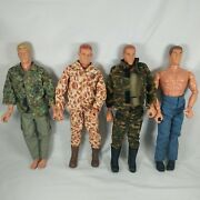 Lot Of 4 Vintage Hasbro Gi Joe 12 Inch Action Figures 16 Clothes 1/6 Military