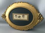Antique Shabby Vtg Chic Gold Gilt Wood Gesso And Wall Picture Lady Portrait Frame