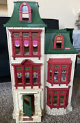 Vintage Fisher Price Mattel Holiday Dollhouse 32 Inches Tall Guc 2002 Doll House