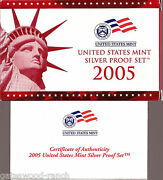 2005 Silver Proof Set - Dcam Coins- Complete Set With Box And Authenticity