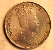 4 Collectible Coins - 1844 Victoria Six Pence 1886 Victoria 5 Cents And 2 More