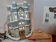 Christmas Colonial Village By Lefton- St. Peters Cathedral - With Speaker