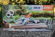 Stihl Gta 26 Handheld Pruner Chainsaw Battery Powered W/carry Case 2x Chains