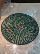 Pier 1 Imports Beaded Aqua Round Placemats