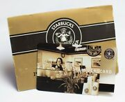 2002 Starbucks Card Pike Place The First Store Matching Sleeve Very Rare
