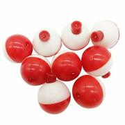 50pcs Fishing Bobbers Hard Abs Snap-on Floats Round Float Bobbers Fishing Tackle