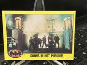 1989 Topps Batman Movie Trading Card 209 Goons In Hot Pursuit - Prototype Rare