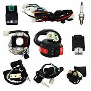 Complete Electrics Wiring Harness Stator Coil Cdi Solenoid Relay Spark Plug F...
