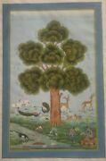 Original Hand Painted Exquisite Tree Of Life Finest Bible Detailed Miniature Art