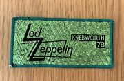 Led Zeppelin Knebworth And03979 Vintage Sew On Patch From The 1970and039s Green Glitter