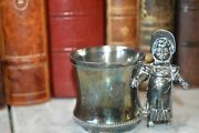 Antique Silver Plated Figural Victorian Girl Toothpick Holder Kate Greenaway