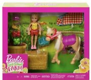 Barbie Club Chelsea Sweet Orchard Farm Blonde Chelsea Doll And Pony Playset