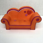 Lalaloopsy Orange With Pink Trim Couch Fits 2 Full Size Dolls 11 2010 Retired