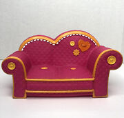 Lalaloopsy Pink With Orange Trim Couch Fits 2 Full Size Dolls 11 2010 Retired