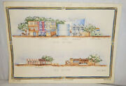 3 Architectural Watercolor Drawings Plastic Arts Center Austin Tx Proposed 1981