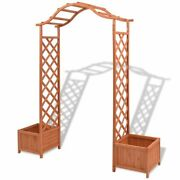 Wooden Garden Trellis Rose Arch With Planters Patio Archway 70.9x15.7x80.7 Us