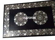 4and039x2and039 Marble Dining Table Top Mother Of Pearl Inlay Marquetry Halloween Decor