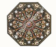 36 Green Marble Dining Hallway Table Top Marquetry Collectible Inlay Decor E937